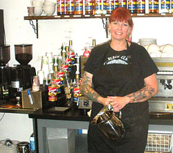 Jill Younce of Painted Lady Coffeehouse, Milwaukie, OR