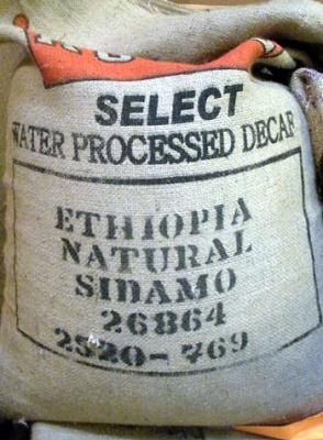 Organic Ethiopia Sidama  Natural WP DECAF